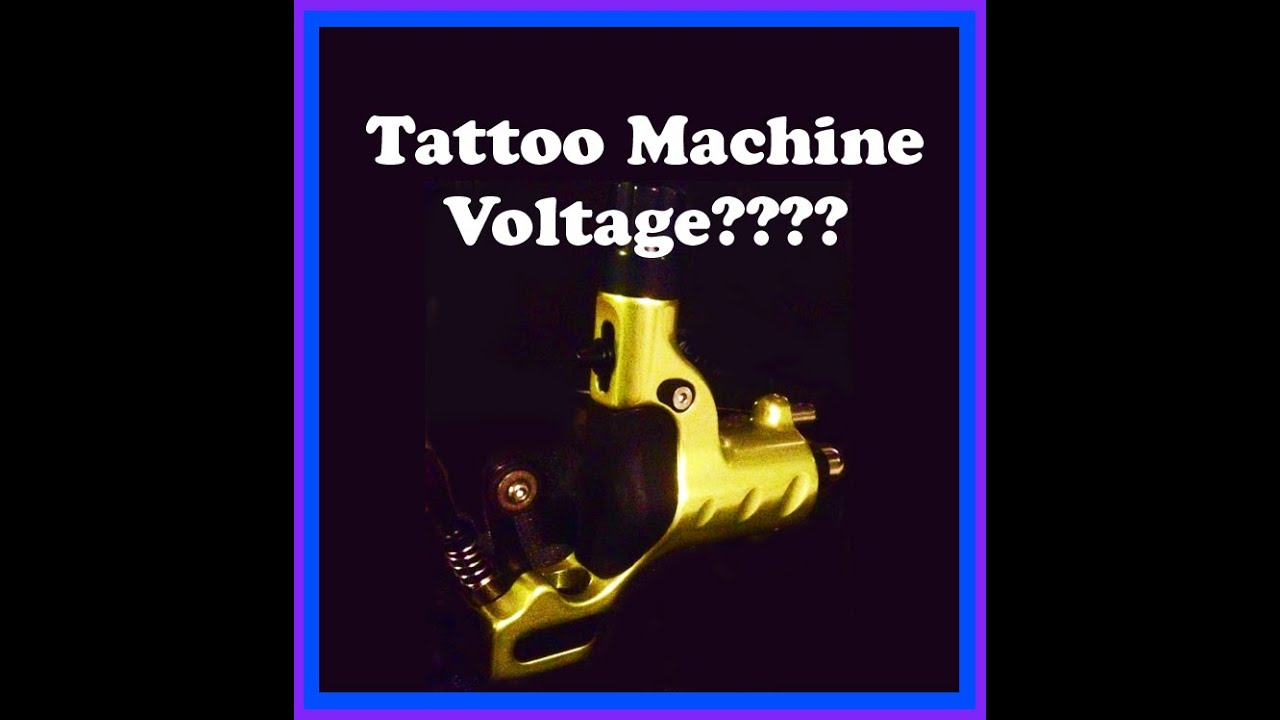 What Voltage? Tattoo Rotary Machine  How To Set Correct Power