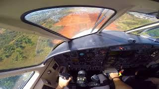 EMB110 BANDEIRANTE POUSO SBBR - PILOT VIEW