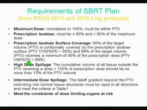 Medical Physics SBRT Treatment Planning