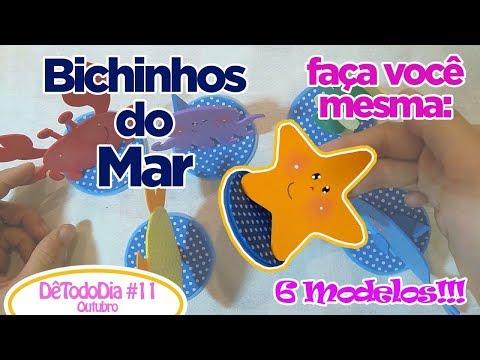 Como Fazer Bichinhos do Mar - 6 Modelos!!! - DêTodoDia#11Outubro | Criatividades da Dê