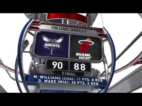 Charlotte Hornets vs Miami Heat - April 27, 2016