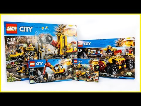 ALL LEGO City Mining Sets Compilation/Collection Speed Build