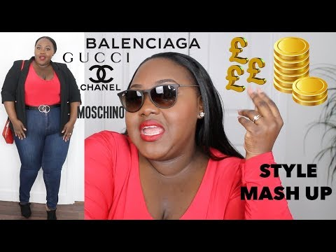 HOW TO LOOK RICH AND EXPENSIVE FOR CHEAP PLUS SIZE! STYLE MASH UP