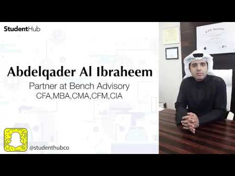 Abdelqader Al Ibraheem, Partner at Bench Advisory, giving an overview for accounting majors