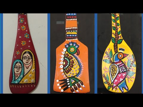 #DIY#Wooden spoon painting #Hand painted wooden spoon #How to paint on wooden spoon#wall hanging#