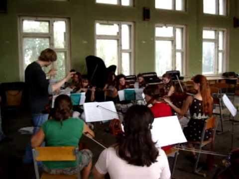 Репетиция с камерным оркестром