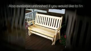 Al Furniture Co. Traditional English Porch Glider - 601, 602