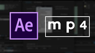 How To Save After Effects as mp4 Video | Easy Tutorial