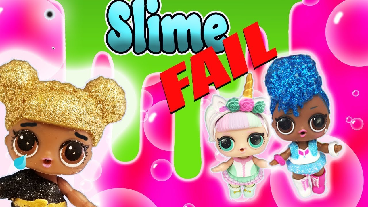 Lol Surprise Doll Glitter Slime Challenge Fail Featuring