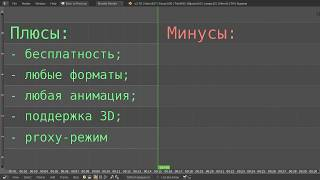 Видео-редактор Blender 34 - Плюсы и Минусы