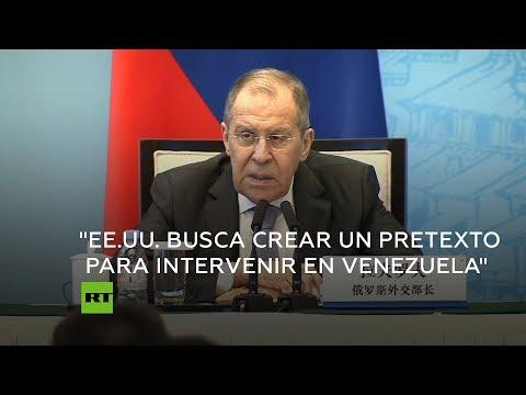 Canciller ruso: EE.UU. intenta crear un pretexto para una intervención en Venezuela