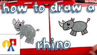 How To Draw A Cartoon Rhino