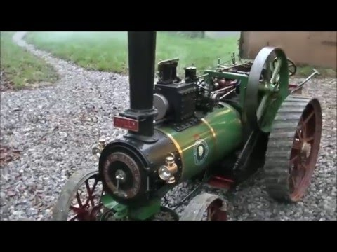 "Steaming A 4"" Foster Traction Engine"