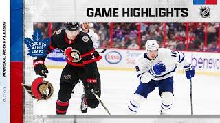 Maple Leafs @ Senators 10/14/21 | NHL Highlights