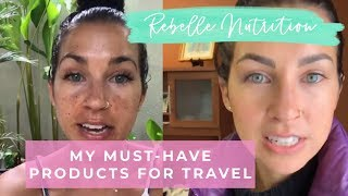 MY MUST-HAVE PRODUCTS FOR TRAVELING THE WORLD! (Melasma/dark spots, curly hair, and anti-aging)