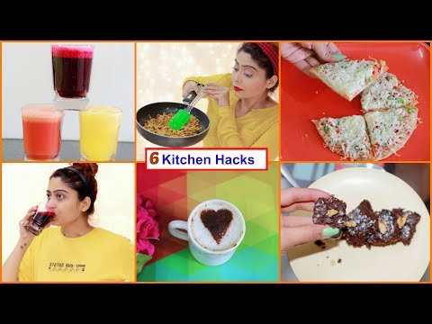 6 Easy And Smart KITCHEN HACKS And Tricks   Useful Kitchen Tips And Tricks   Rinkal Soni