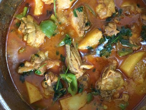 Chicken Recipe With Capsicum And Potato With Gravy