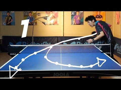 Best Table Tennis Serves Tutorial. (Pt 1: backspin, hook) --- TOMORROW TABLE TENNIS