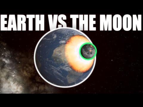 Earth VS The Moon | Universe Sandbox |