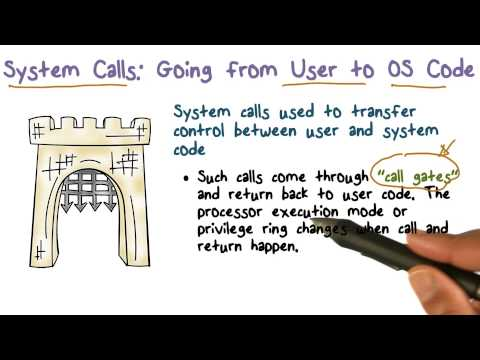 System Calls  Going from User to OS Code