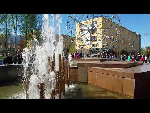 Запуск фонтанов в Петрозаводске в 2019