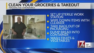 Clean your groceries and takeout