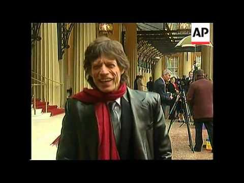 Mick Jagger knighted at Buckingham Palace