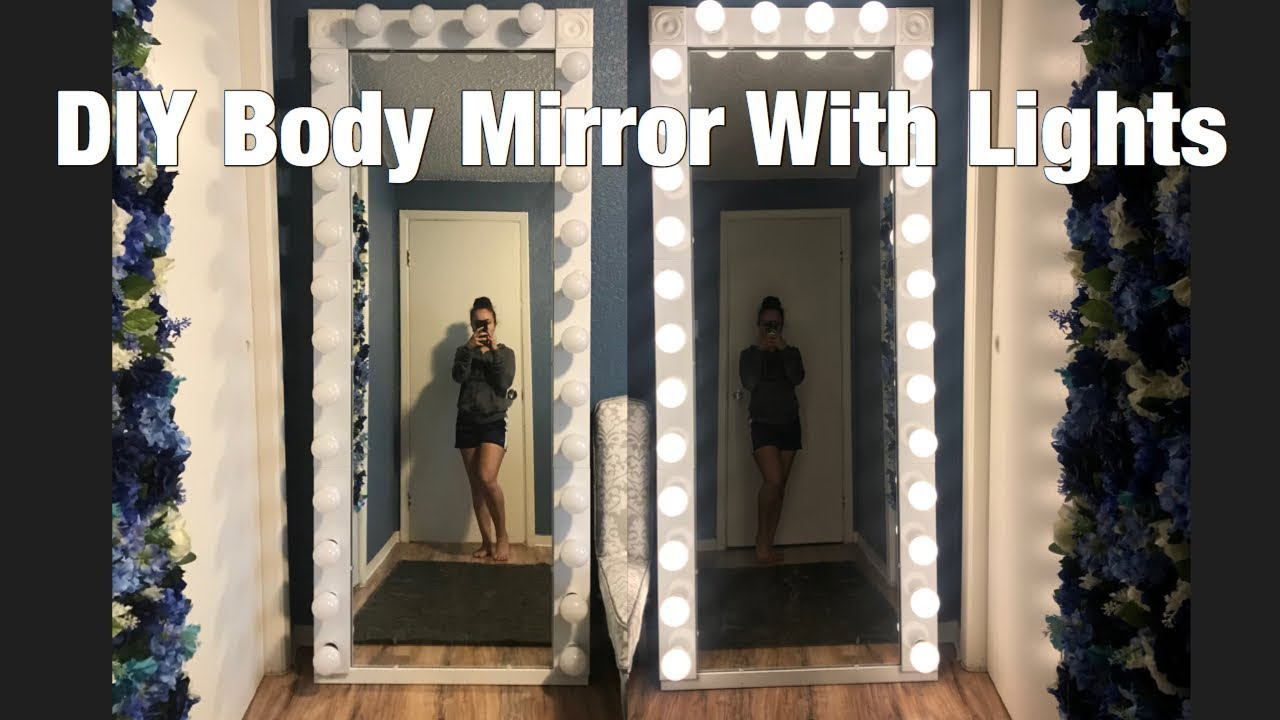 Diy Body Mirror With Lights Youtube