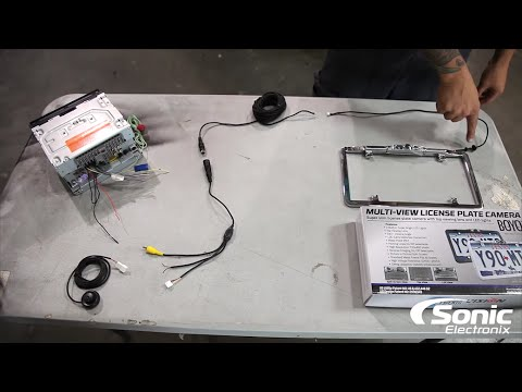hqdefault how to install a back up camera sonic electronix youtube Aftermarket Backup Camera Wiring Diagram at creativeand.co