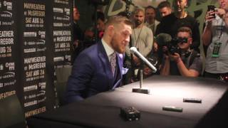 CONOR McGREGOR - (FULL & UNCUT) ROUND TABLE - / FLOYD MAYWEATHER v ...
