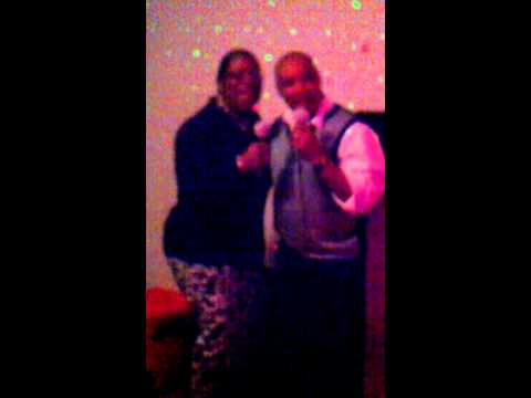 Mr and Mrs Cosby at karaoke night