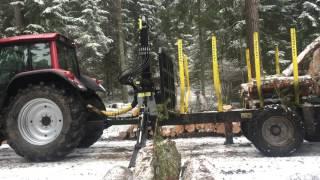 hydrofast h 15 przyczepa do zrywki drewna