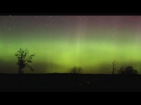 Aurora borealis lights