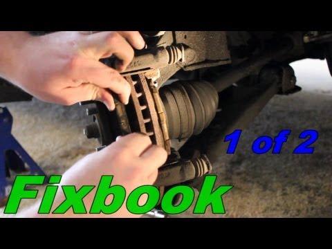 Toyota Brake Pads >> Pontiac Vibe, Toyota Matrix Front Brake Removal Replace ...