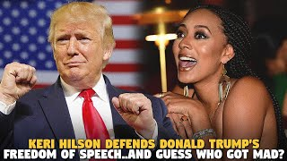 Keri Hilson Defends Donald Trump's Freedom Of Speech...and Guess WHO GOT MAD?