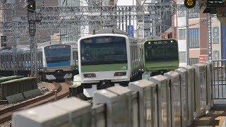 JR東日本 山手線、京浜東北線など@有楽町駅、日暮里駅付近