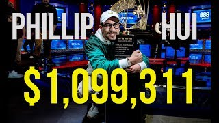 Phillip Hui wins the $50,000 Poker Players Championship for $1,099,311!!