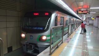 大邱都市鉄道2号線 パンゴゲ駅入線