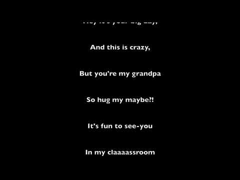Hug me Maybe Grandparents day song