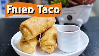 Fried Taco ala Taco Boy   Crispy Taco