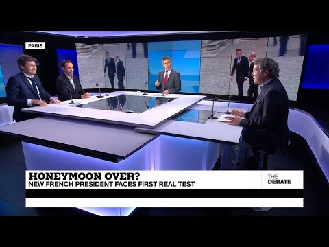 THE DEBATE - Honeymoon over? Macron slides in the polls as he faces first real test