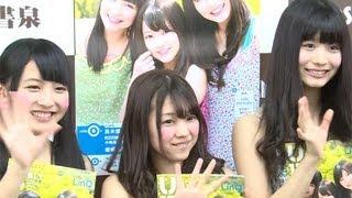 アイドルグループ「LinQ」のメンバーが6月1日、東京都内で行われた雑誌「B.L.T. U-17 Vol.26」の発売記念イベントに登場した。(毎日新聞デ...