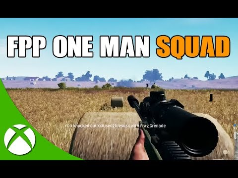 PUBG XBOX ONE FPP 16 KILL ONE MAN SQUAD GAMEPLAY!