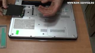 Инструкция по замене памяти, жесткого диска и DVD RW ноутбука  SONY VAIO PCG-3E2  VGN-CS215J