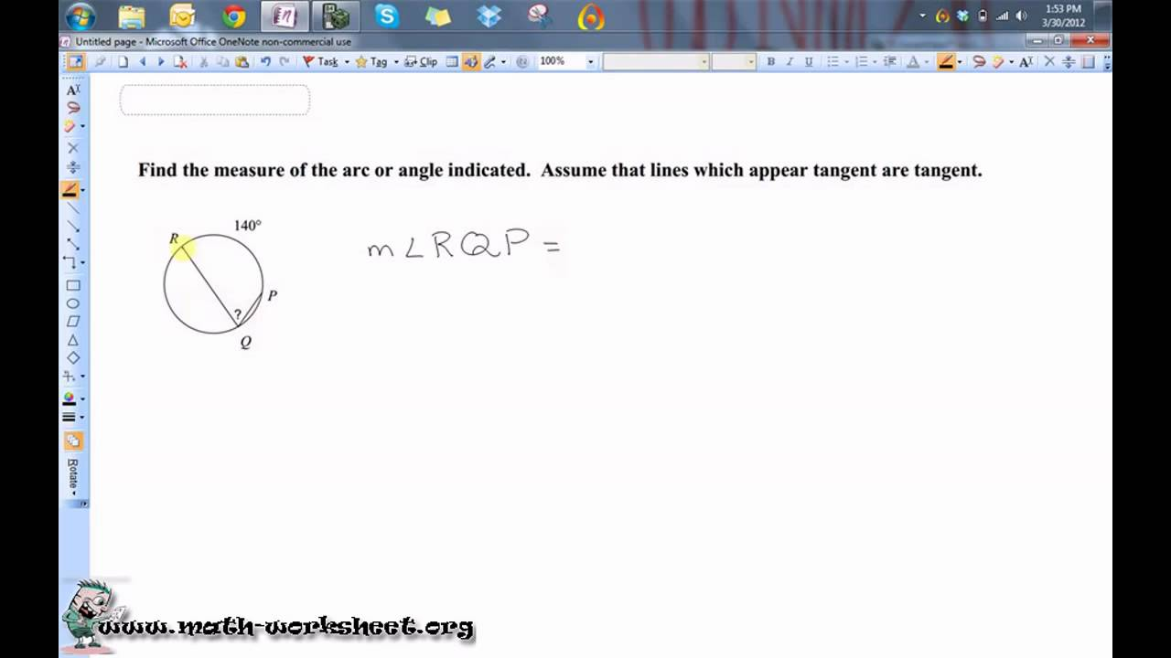 Geometry Circles Secant Tangent Angles Easy Youtube