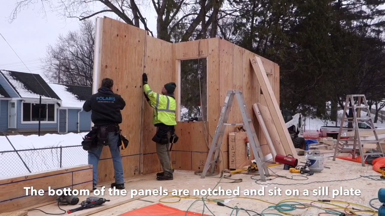 What is a panel house How is it arranged