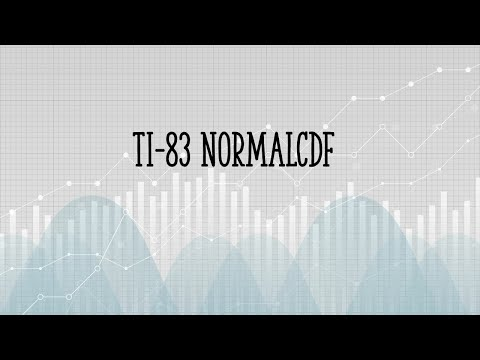 TI 83 NormalCDF / TI 84: Easy Step by Step Examples
