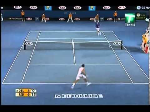Australian Open 2009 - Quarterfinal - Roger Federer vs Juan Martin del Potro - Highlights