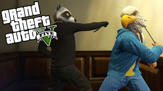 GTA 5 Funny Moments - Every Bullet Counts: Part 2! (vs Vanoss, Delirious, and Terroriser)