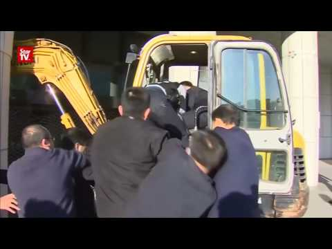 Seoul prosecutor's office rammed by excavator